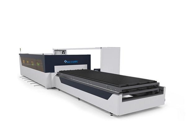4mm karbon çelik tüp boru sac raytools ile cnc fiber lazer kesim makinesi
