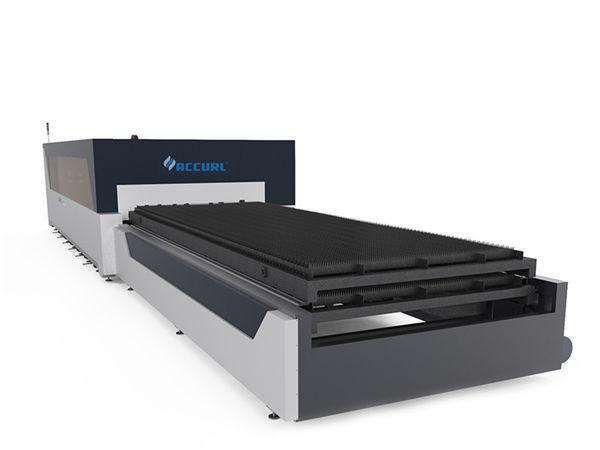 Metal plaka yapısı için çift sürücü endüstriyel lazer kesim makinesi 380v