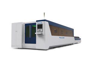 Kararlı fiber lazer kesim ekipmanları, çelik levha lazer kesim makinesi yüksek performans