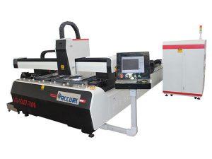 Alaşımlı çelik levha cnc fiber lazer kesim makinesi çift sürücü yüksek verimlilik