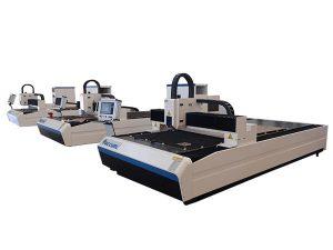 Metal plaka için yüksek hassasiyetli fiber lazer kesim makinesi çift doğrusal motor