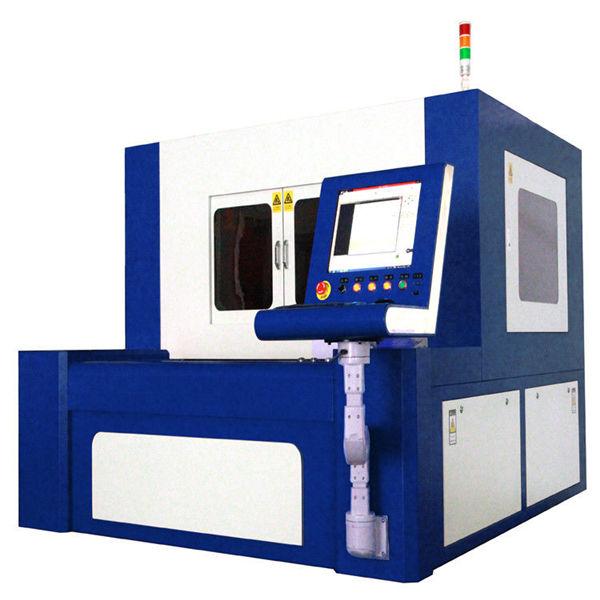 Yüksek hassas metal parçalar için 380v 50 / 60hz fiber lazer kesim makinesi