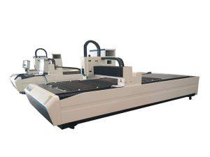 Çift kullanımlı lazer tüp kesme ekipmanları, profesyonel cnc lazer tüp kesme makinası