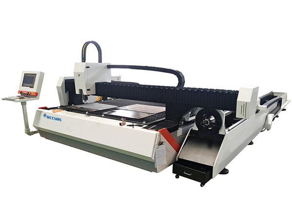 Otomatik besleme ile tüp metal fiber lazer kesim makinesi 1500w ayarlanabilir hız