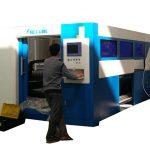 Metal tüp için 2kw fiber optik lazer kesim makinesi ayarlanabilir hız